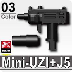 Мини-УЗИ с глушителем черный J5