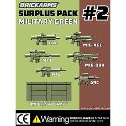 Набор оружия №2 темно-зеленого цвета