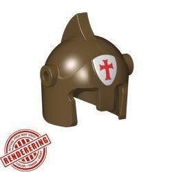Боевой шлем бронзовый с крестом