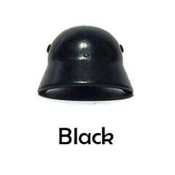 Немецкий стальной шлем черный