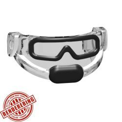 Tactical Goggles - Trans Clear (black print)