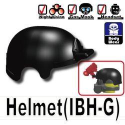 Тактический шлем IBH-G черного цвета с креплениями