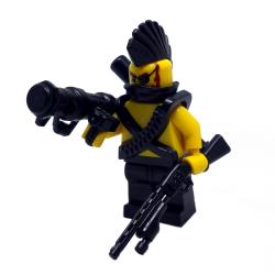 """Минифигурка бандита """"Ирокез"""" в боевом обвесе"""