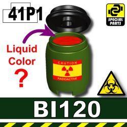 Зеленая бочка с химикатом BI120P