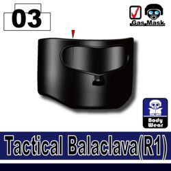 Тактическая балаклава R1 черного цвета