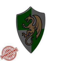 Щит зеленый с драконом