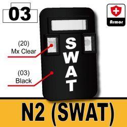 Black Bulletproof Shield (N2-SWAT)