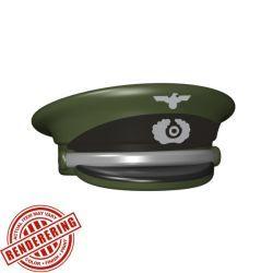 Немецкая фуражка офицера зеленого цвета