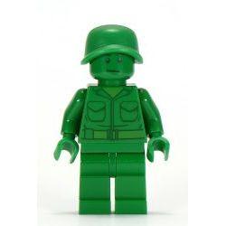 toy001 Зеленая минифигурка военного