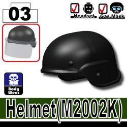 Шлем полицейского M2002K, черный цвет