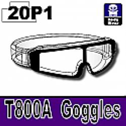 Прозрачные очки с черной оправой T800A