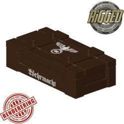Ящик темно-коричневый с символикой Вермахта