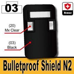 Black Bulletproof Shield (N2)