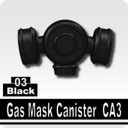Black Gas Mask Canister CA3