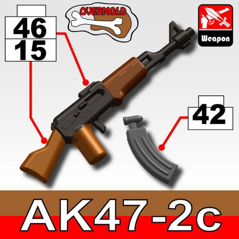 Автомат AK47/2C  черно-коричневый со съемным магазином