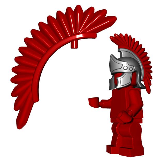 Оперение для шлема Центуриона, СИНЕГО цвета