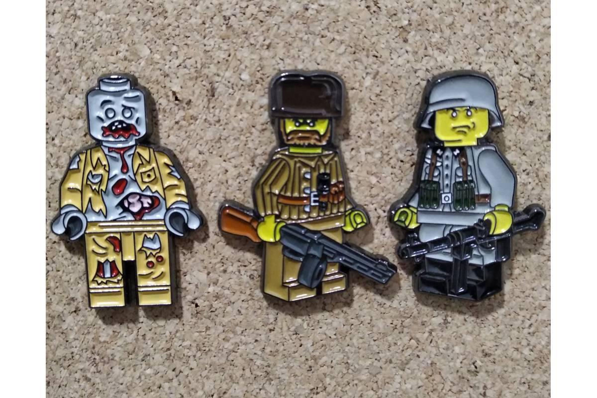 Collector Metal Pins x 3