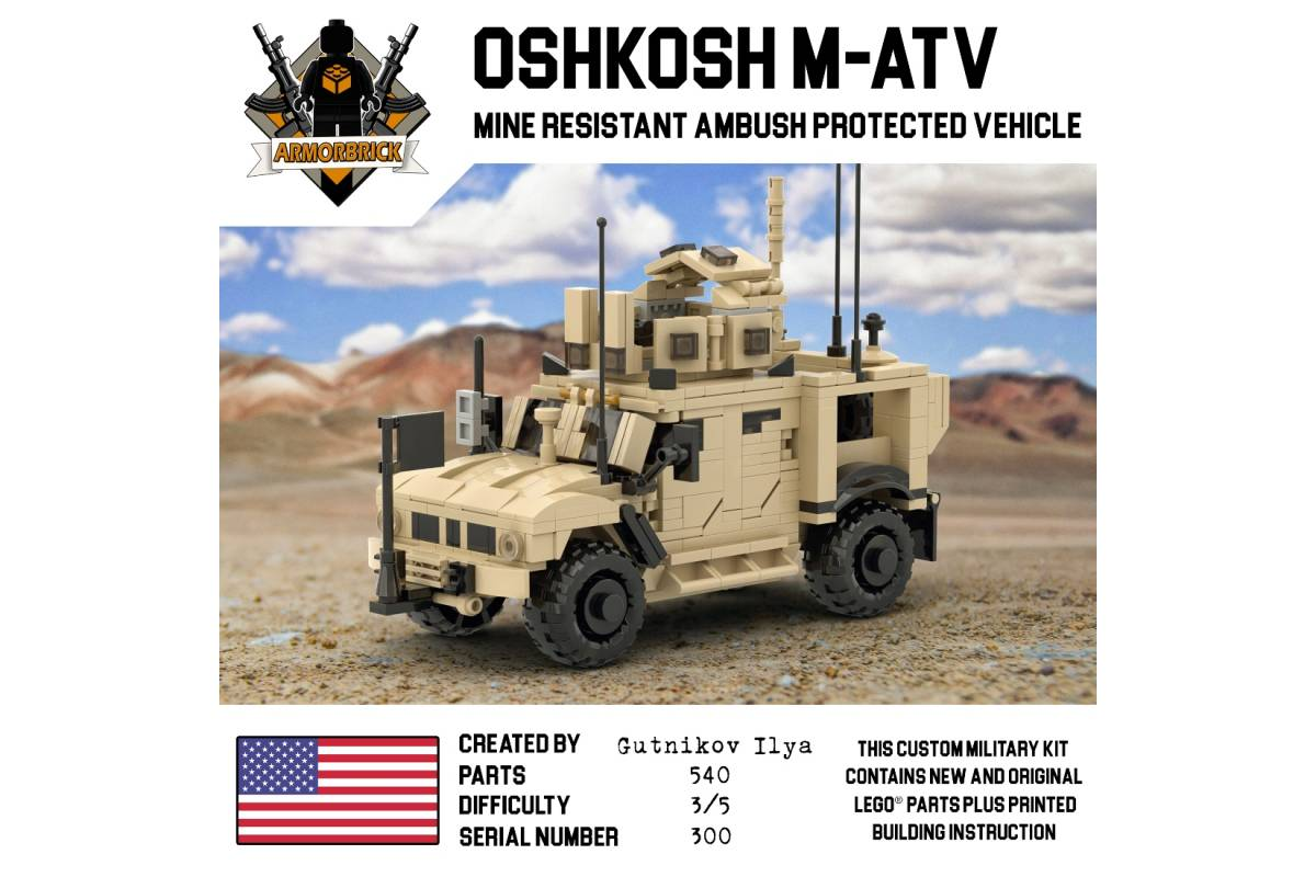M Atv Us Modern Military Vehicle Armorbrick Custom Building Kits Nevabrick Ru European Reseller Of Custom Lego Kits Of Brickmania Armorbrick Battlebrick Brickarms