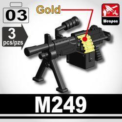 M249 Пулемет черный