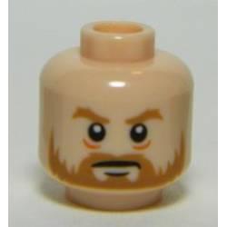 Head Beard Brown, Bushy Eyebrows, White Pupils, Stern Pattern - Light Flesh