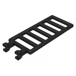 Bar 7 x 3 with Double Clips (Ladder) Black
