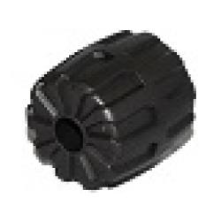 Pearl Dark Gray Wheel Hard Plastic Small (22mm D. x 24mm)