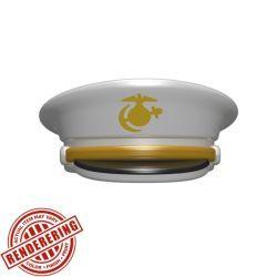 Офицерская фуражка белая Морской Пехоты