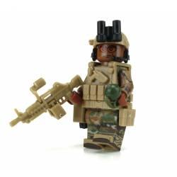 Афро-американский солдат Пулеметчик