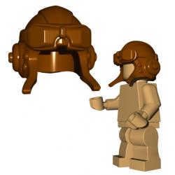 Авиационный шлем, коричневого цвета