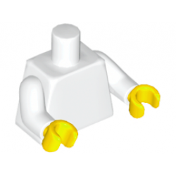 Торс белого цвета, желтые кисти
