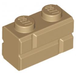 Brick, Modified 1 x 2 with Masonry Profile Dark Tan