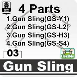 Black Gun Sling 4 Parts