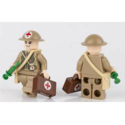 WWII British Medic Woman (Brickpanda)