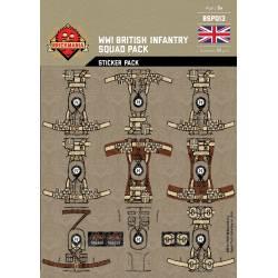 Наклейки Британкой пехоты Первой Мировой