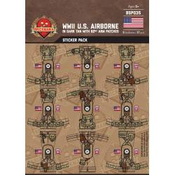 WWII US Airborne in Dark Tan with 82nd Arm Patch - Stickers