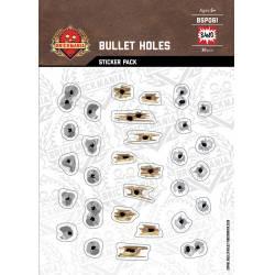 Bullet Holes Metal Concrete Wood - Sticker Pack
