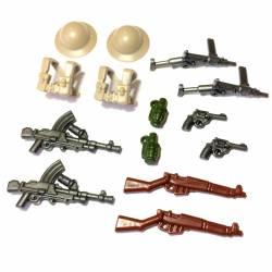 BrickWarriors WW2 British Infantry Minifigure Accesssories