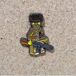 Collector Metal Pin of Lego WWII Soviet Partizan