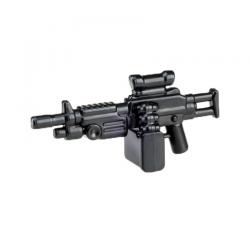 """Автоматическое оружие """"Пила"""" с прицелом д/боевого подразделения, черное"""