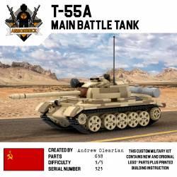 Танк Т-55а, песчаный камуфляж