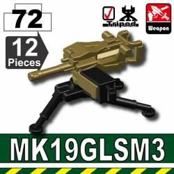 Американский станковый пулемет MK19 черно-тановый