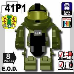 Костюм сапера E.O.D TS70 с принтом, зеленый