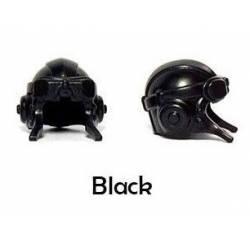 Авиационный шлем, черного цвета