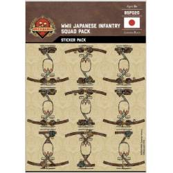 WWII Japanese Infantry - Squad Pack - Stickers