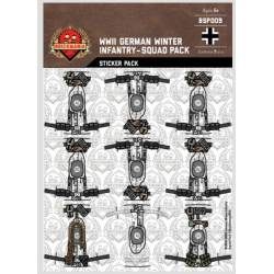 WWII German Winter Infantry - Squad Pack - Stickers