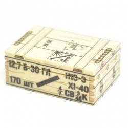 Soviet crate of ammunition 12,7 mm