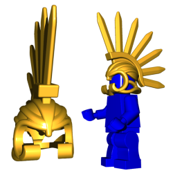 Bladed Helm Pearl Gold
