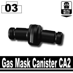Black Gas Mask Canister CA2