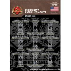 WWII US Navy Kapok Lifejackets Sticker Pack