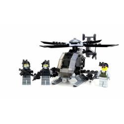 Army Ah-6 Little Bird Helicopter 3 Mini-Figures